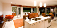 kitchen to living, dining & patio