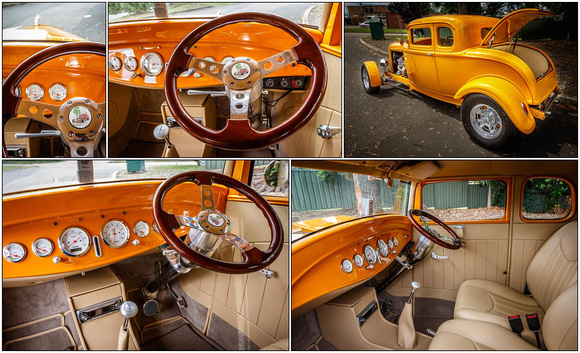 octane '32 Ford coupe print samples 2 - interior