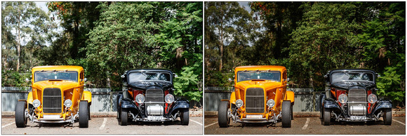 3478 - '32 Ford coupes before & after