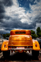 3007 - octane '32  Ford coupe from behind with storm clouds